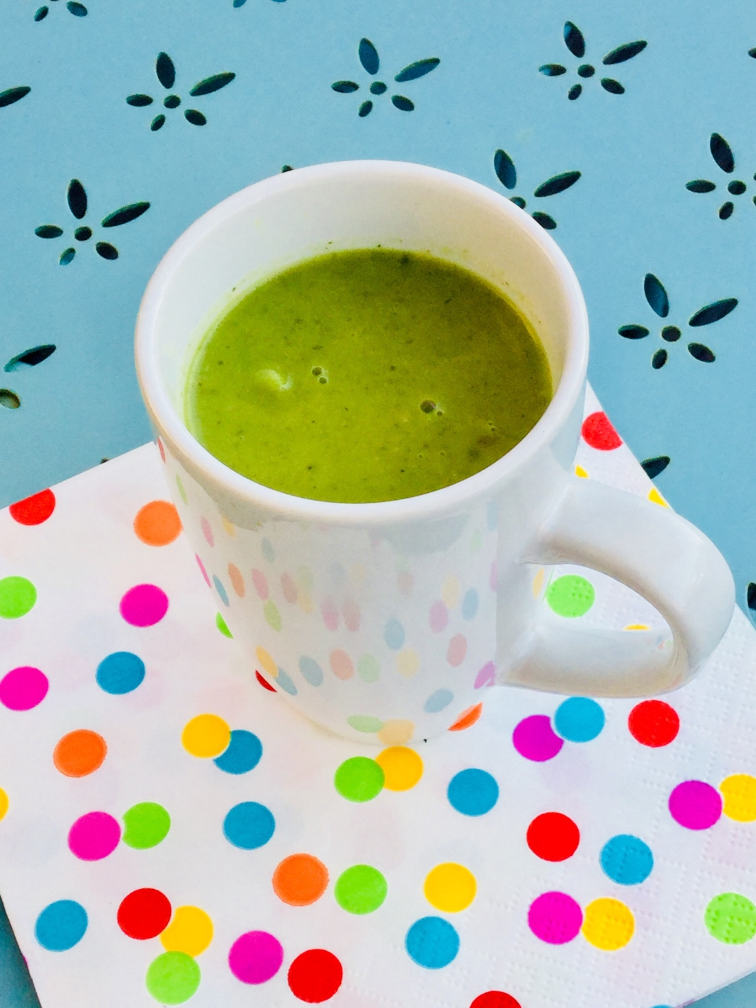 A mug of lettuce soup