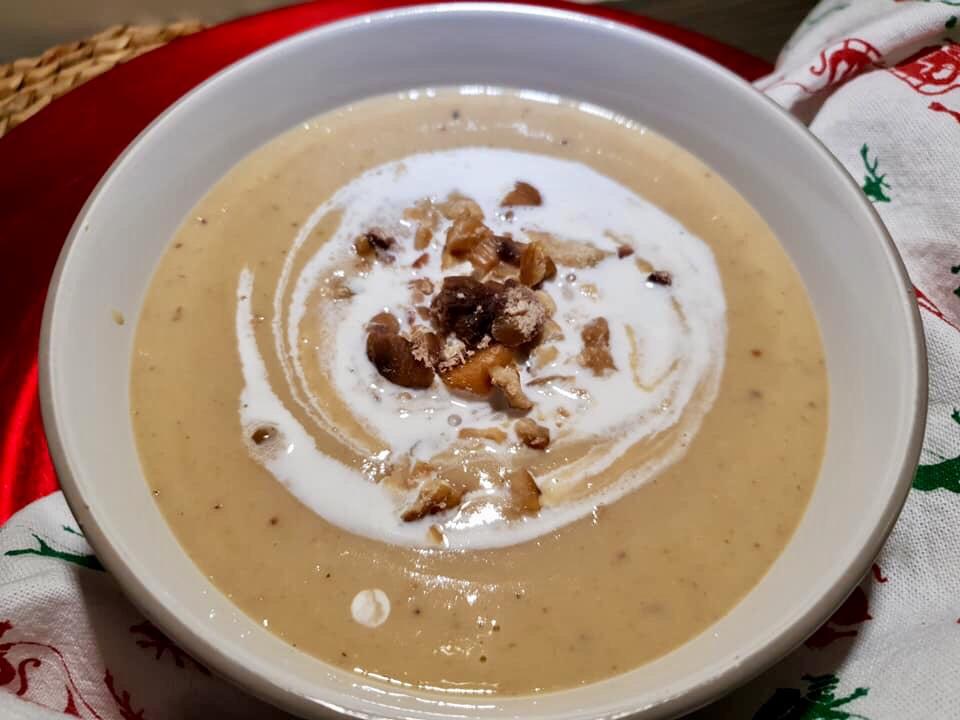 A bowl of chestnut soup